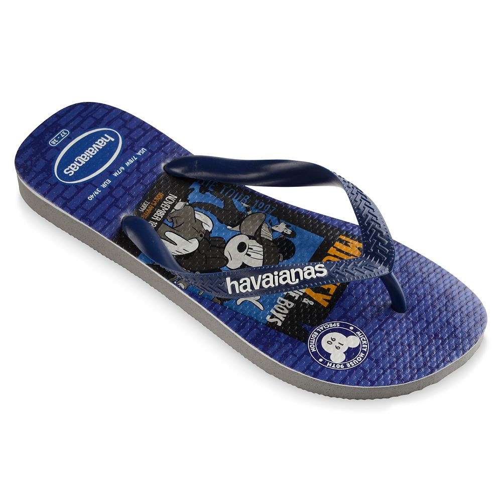 Mickey Mouse and Friends Boy Bands Flip Flops for Adults by Havaianas – 1990s