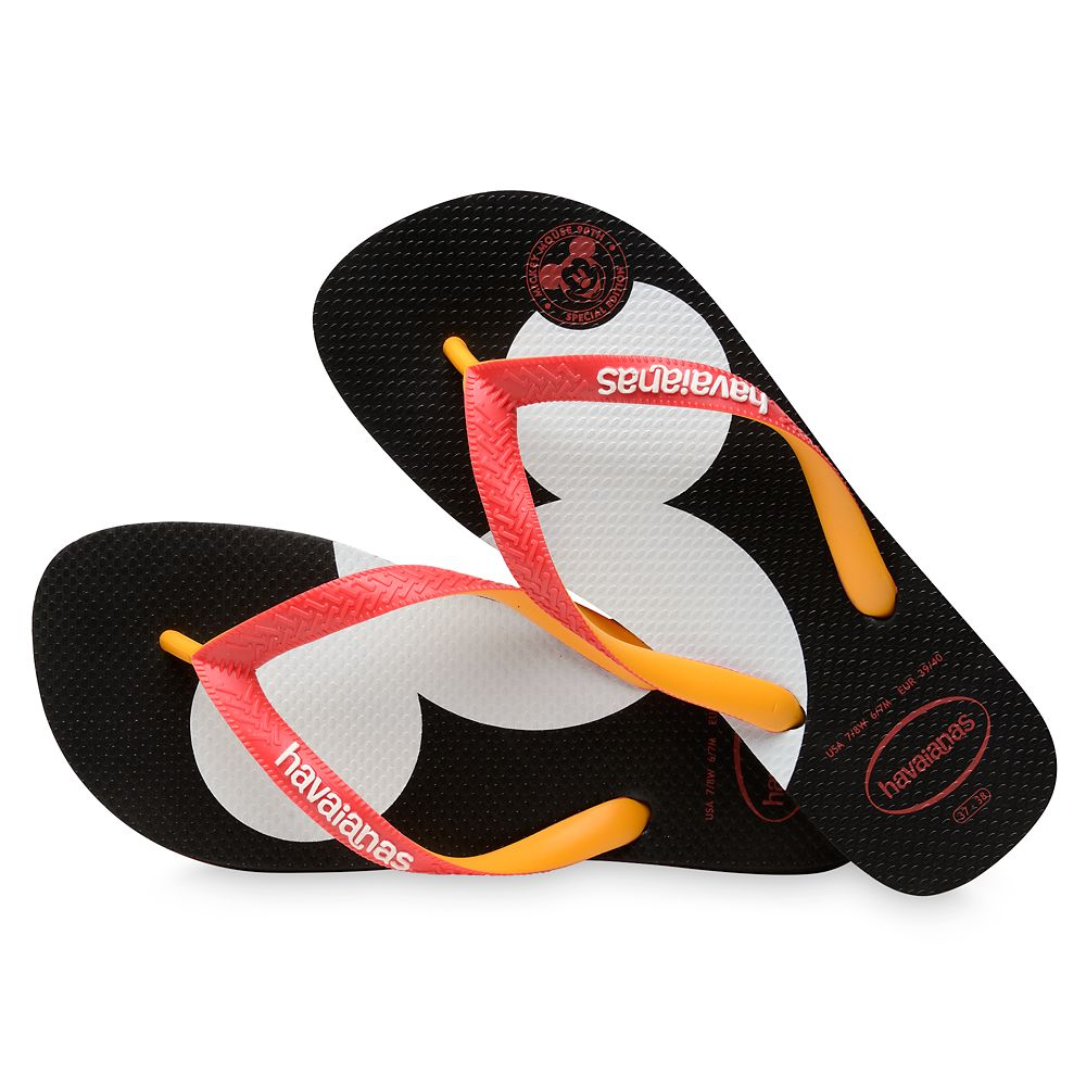 Mickey Mouse Silhouette Flip Flops for Adults by Havaianas