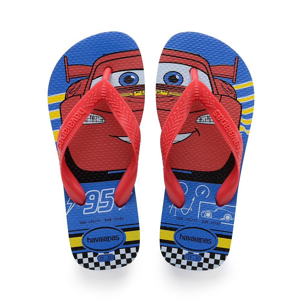 Lightning McQueen Flip Flops for Kids by Havaianas