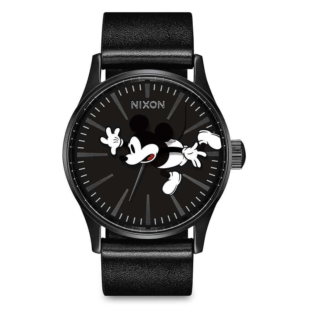 Mickey Mouse Sentry Leather Watch for Adults by Nixon
