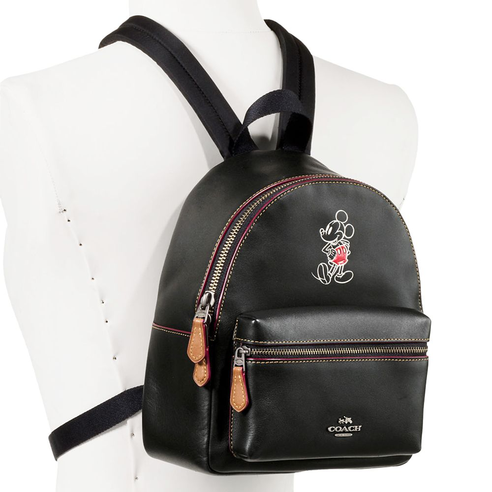 Mickey Mouse Mini Charlie Leather Backpack by COACH