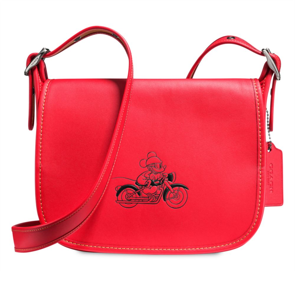 b7785a68 Mickey Mouse Patricia Saddle Leather Bag by COACH – Red