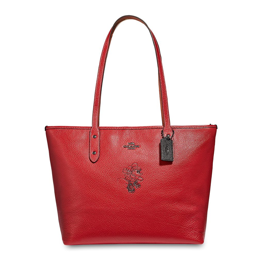 Minnie Mouse Rollerskate City Zip Tote by COACH