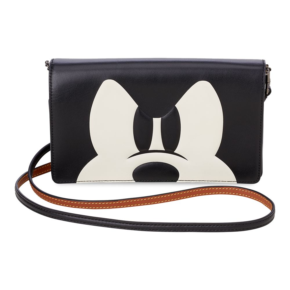 Mickey Mouse Foldover Crossbody Clutch by COACH