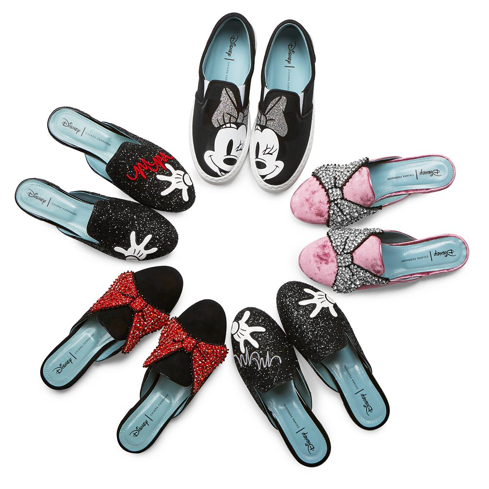 Minnie Mouse Bow Mules for Women by Chiara Ferragni – Pink