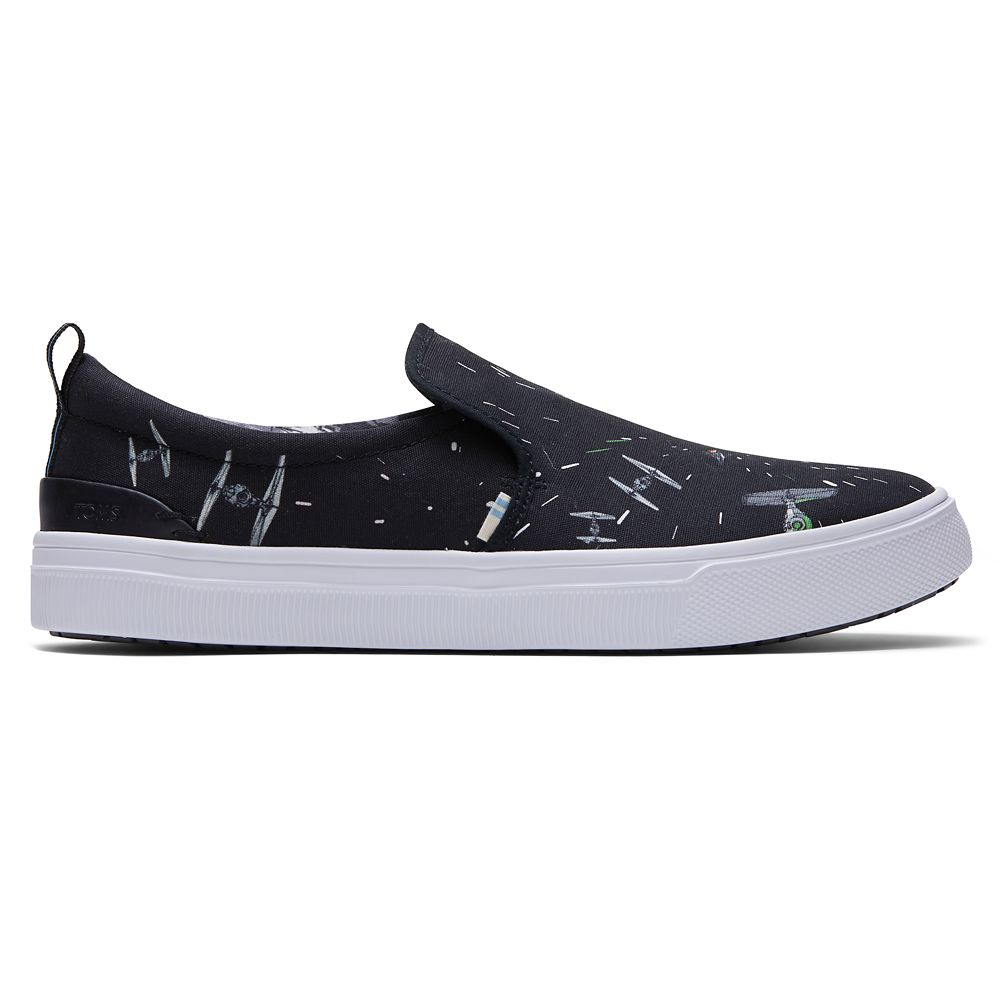 Star Wars Space Print Slip-On Sneakers for Men by TOMS – Black