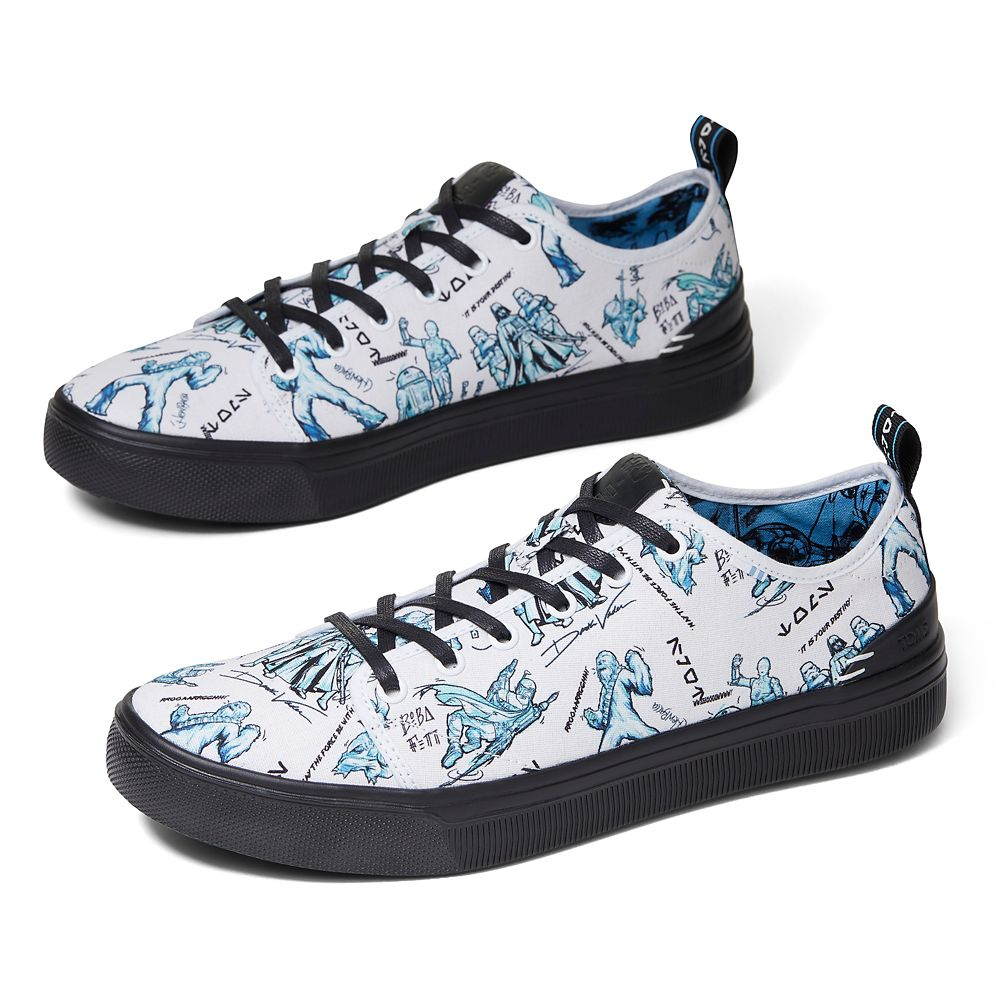 Star Wars Character Sketch Print Sneakers for Men by TOMS – White