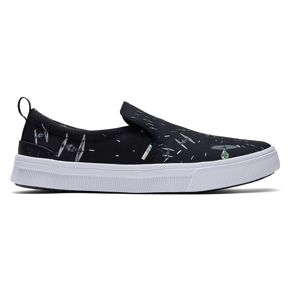 Star Wars Space Print Slip-On Sneakers for Women by TOMS – Black