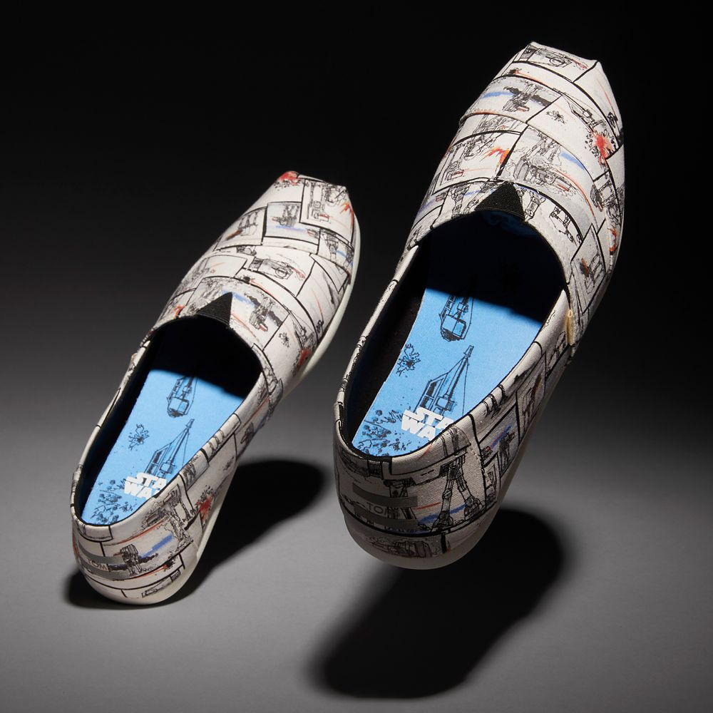 Star Wars AT-AT Print Alpargata Sneakers for Women by TOMS – White
