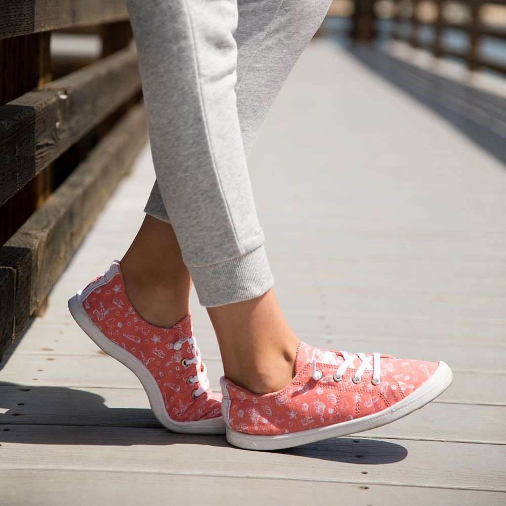 The Little Mermaid Canvas Shoes for Girls by ROXY Girl – Coral