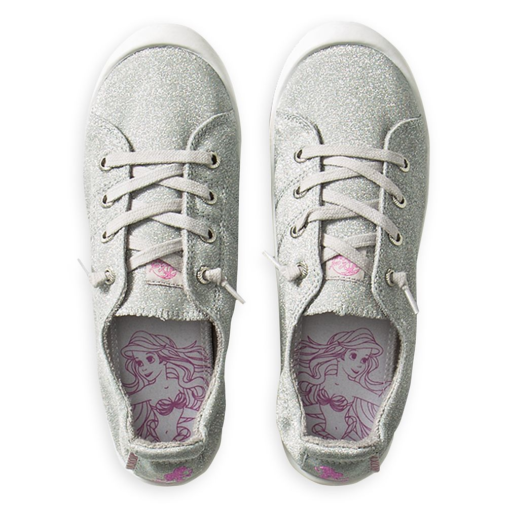 The Little Mermaid Canvas Shoes for Girls by ROXY Girl – Silver