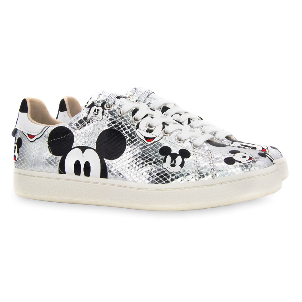 24 Unique Disney Gift Ideas featured by top US Disney blogger, Marcie and the Mouse Mickey Mouse Silver Sneakers for Women by Master of Arts Official shopDisney