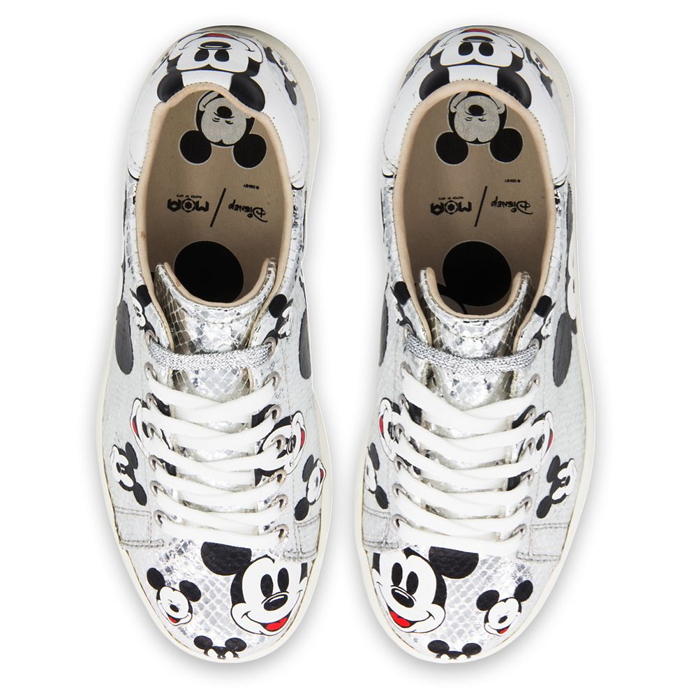 Mickey Mouse Silver Sneakers for Women by Master of Arts