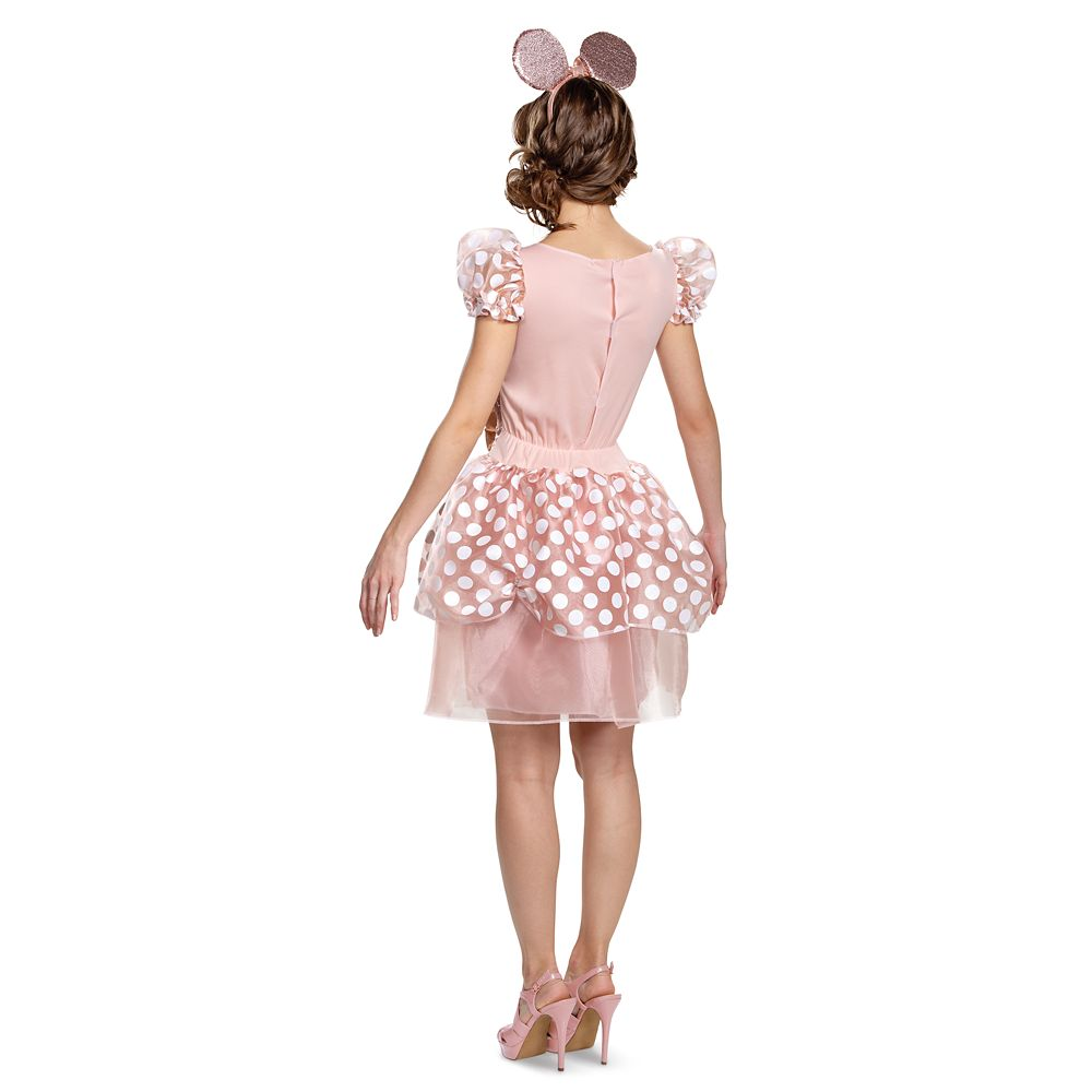 Minnie Mouse Rose Gold Costume for Adults by Disguise