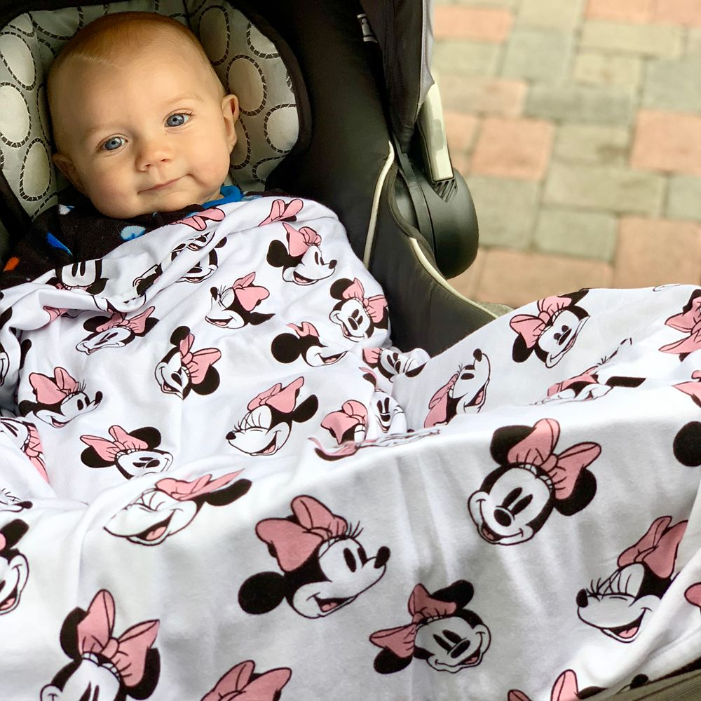 Minnie Mouse Baby Blanket by Milk Snob