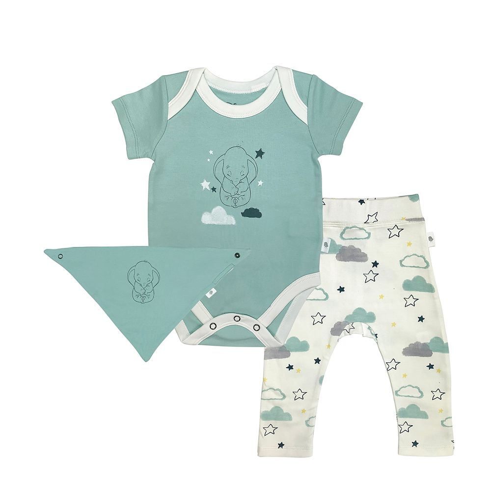 Dumbo Bodysuit, Pants, and Kerchief Set for Baby by finn + emma