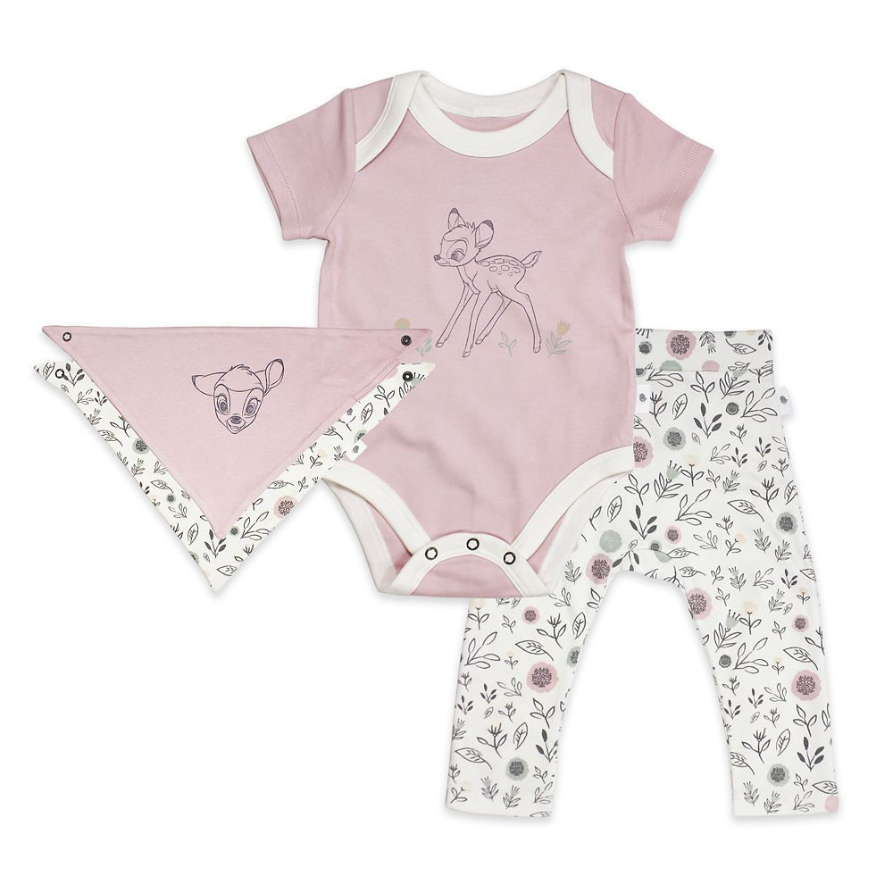 Bambi Bodysuit, Pants, and Kerchief Set for Baby by finn + emma