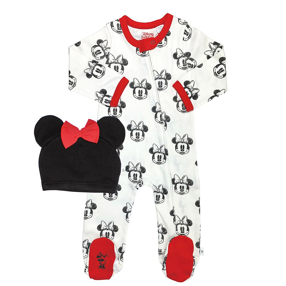 Minnie Mouse Sleeper and Hat Set for Baby by finn + emma