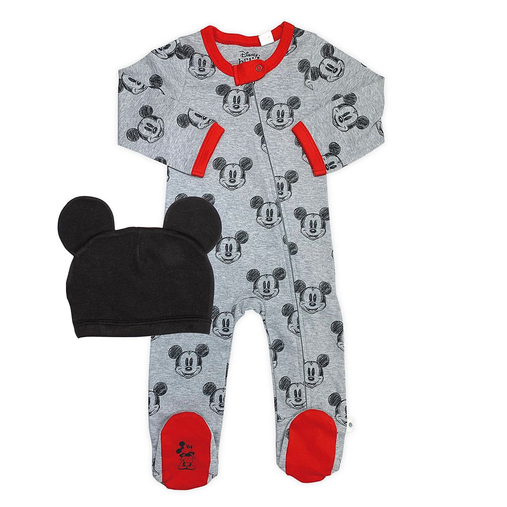 Mickey Mouse Sleeper and Hat Set for Baby by finn + emma