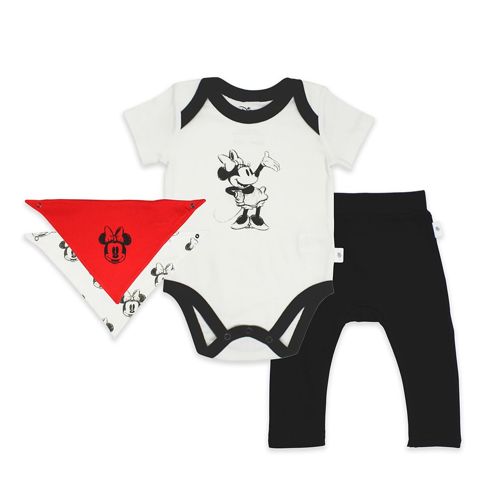 Minnie Mouse Bodysuit, Pants, and Kerchief Set for Baby by finn + emma