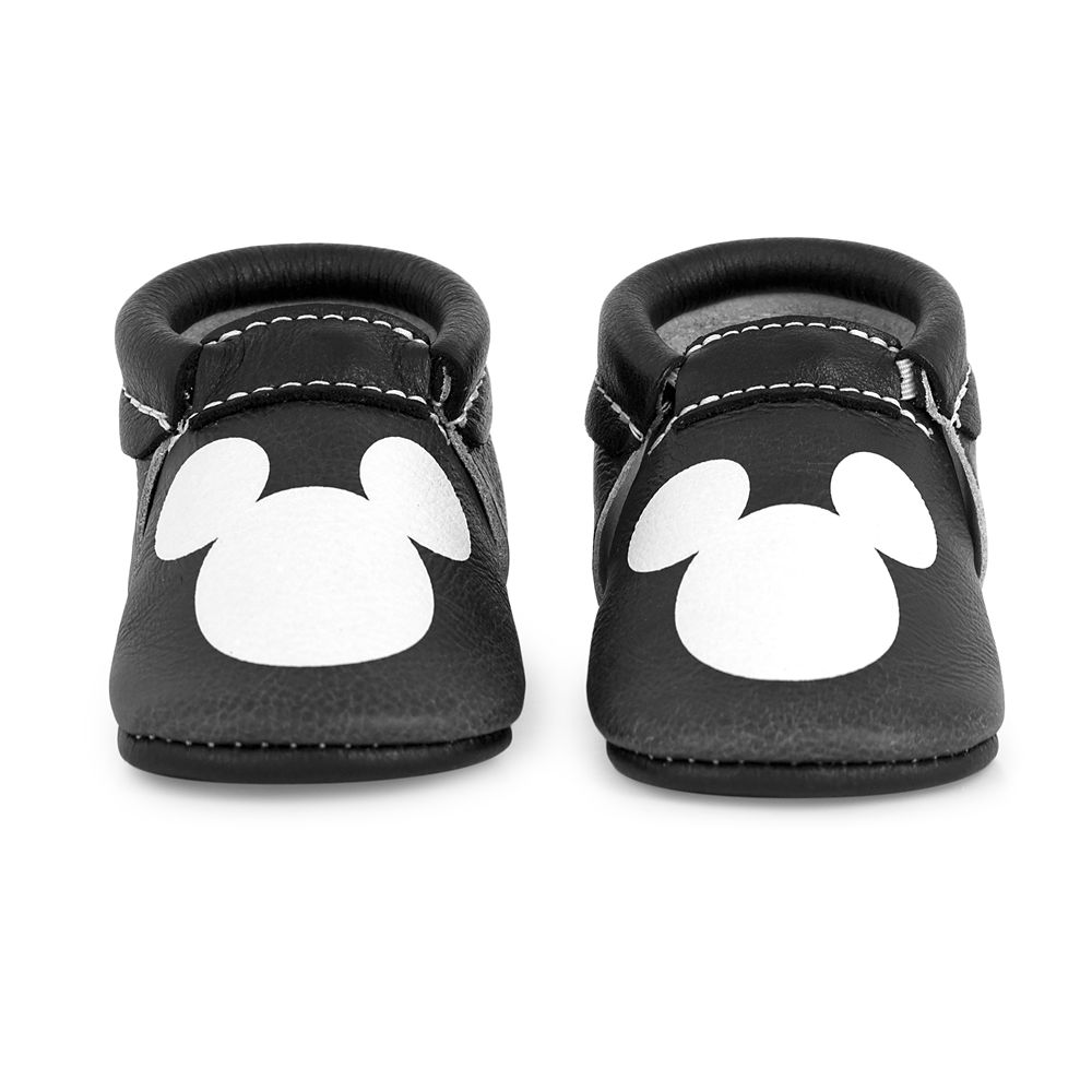 efeb12b84e64c Mickey Mouse Icon Moccasins for Baby by Freshly Picked