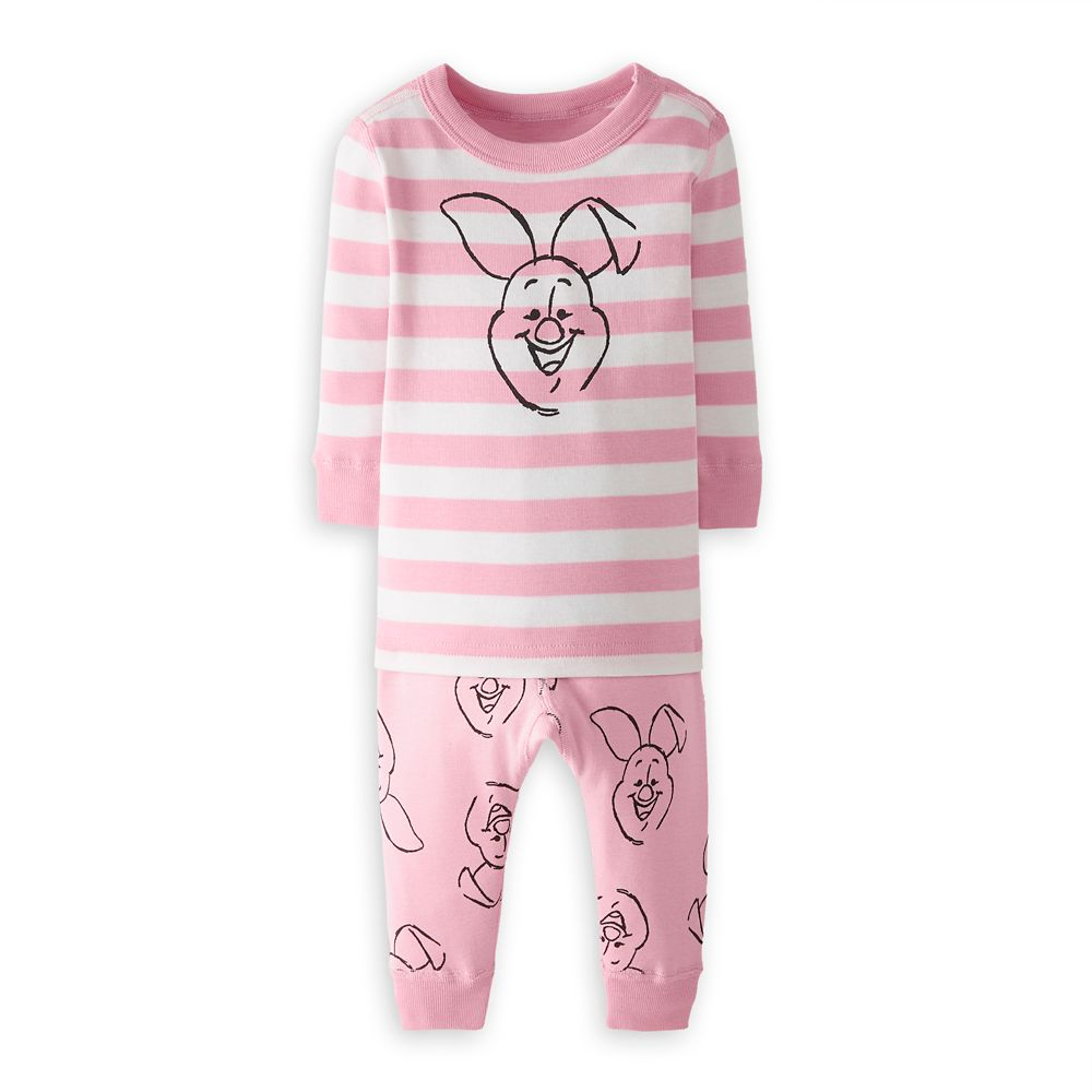 Piglet Organic Long John Pajama Set for Baby by Hanna Andersson