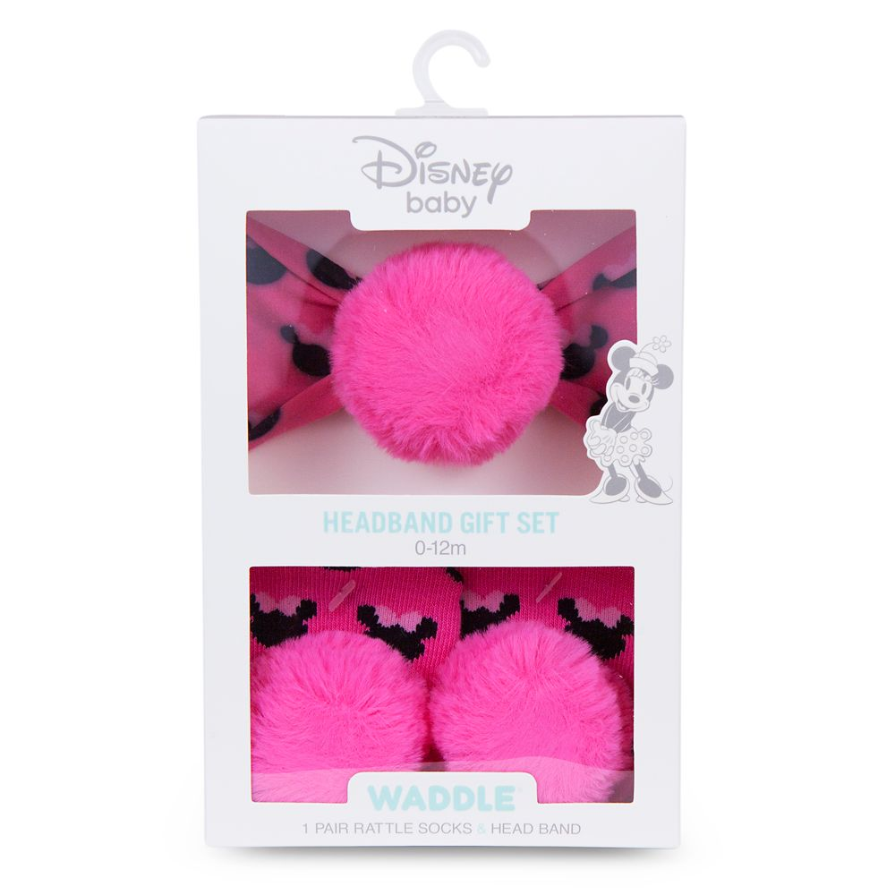Minnie Mouse Socks and Headband Gift Set for Baby by Waddle – Pink