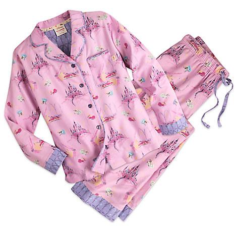 Sleeping Beauty Flannel Pajama Set for Women by Munki Munki®