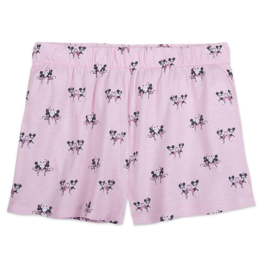 Mickey and Minnie Mouse Pajama Set for Women by Munki Munki