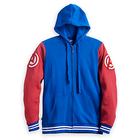 Captain America Hooded Jacket for Men by Mighty Fine