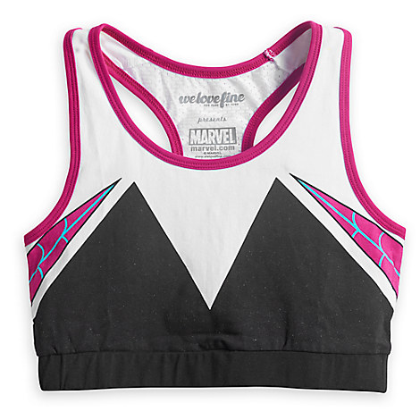 I Am Spider-Gwen Sports Bra for Women by Mighty Fine