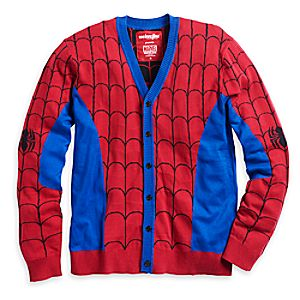 Spider-Man Cardigan Sweater for Men by Mighty Fine 3258046310477M