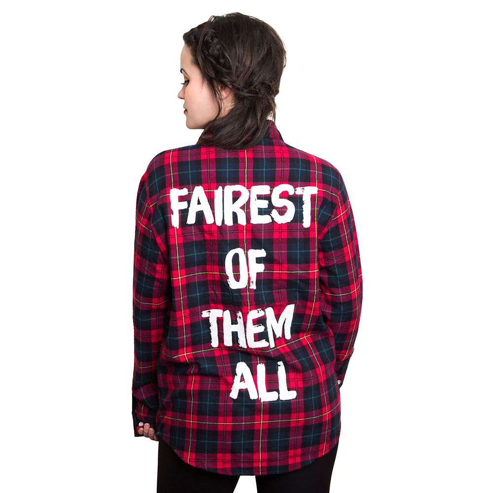 Snow White Flannel Shirt for Adults by Cakeworthy