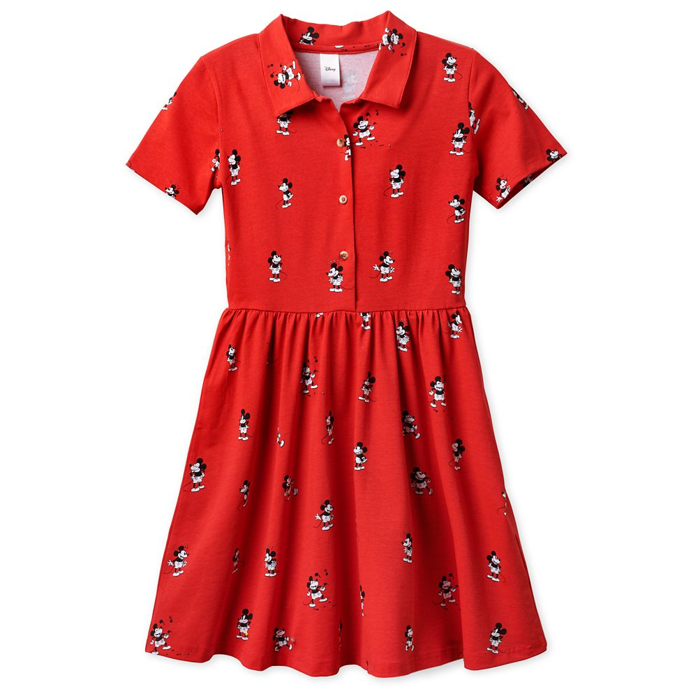 Vintage Mickey Mouse Button Up Dress by Cakeworthy
