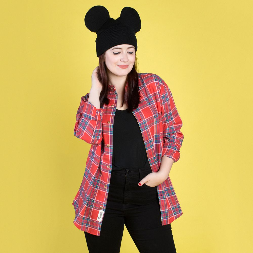 Mickey Mouse Flannel Shirt for Adults by Cakeworthy