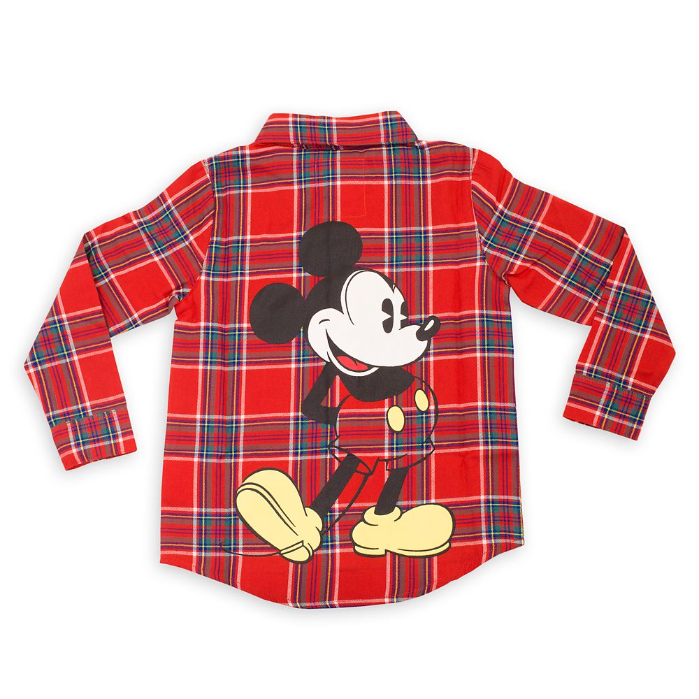 Mickey Mouse Flannel Shirt for Kids by Cakeworthy