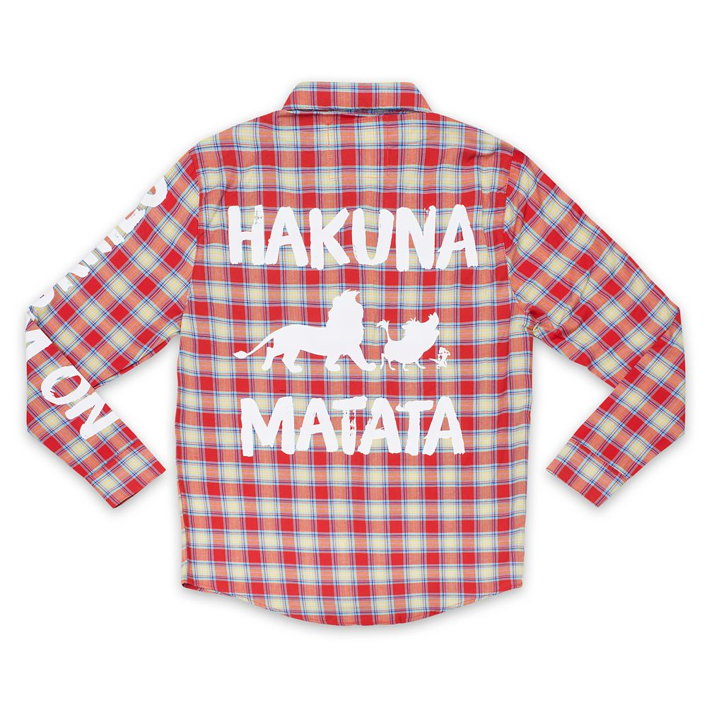 Hakuna Matata Flannel Shirt for Adults by Cakeworthy  The Lion King Official shopDisney