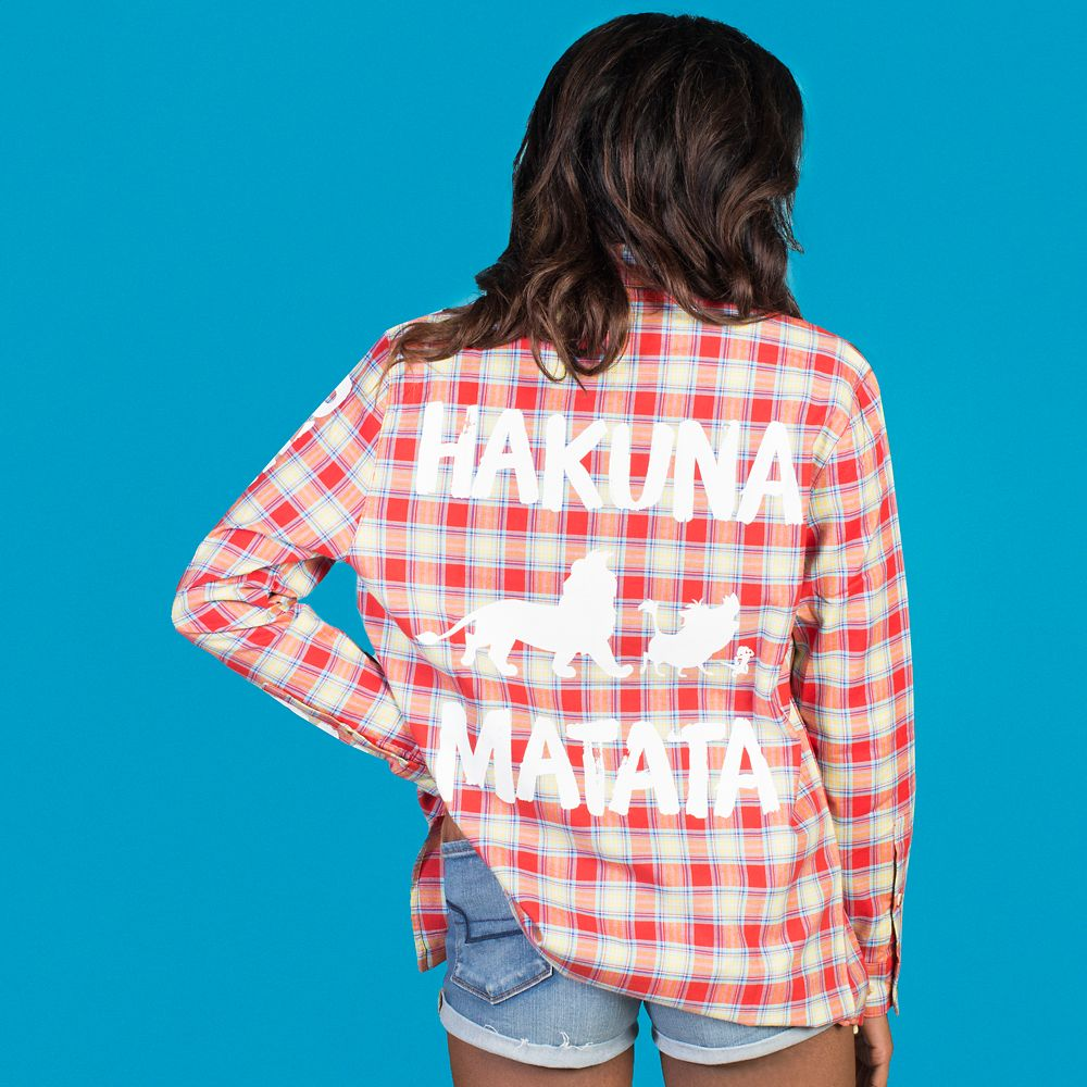 Hakuna Matata Flannel Shirt for Adults by Cakeworthy – The Lion King