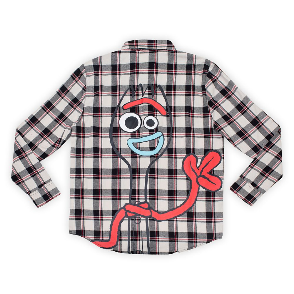 Forky Flannel Shirt for Adults by Cakeworthy  Toy Story 4 Official shopDisney