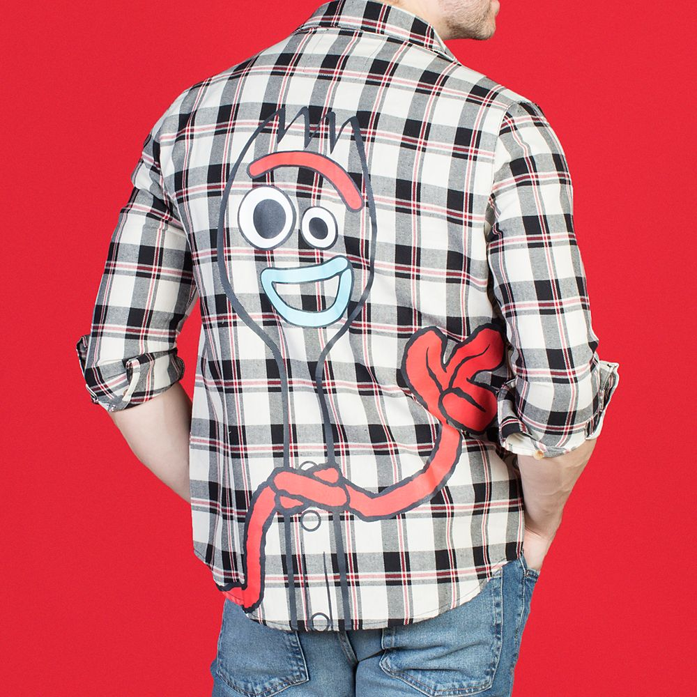 Forky Flannel Shirt for Adults by Cakeworthy – Toy Story 4