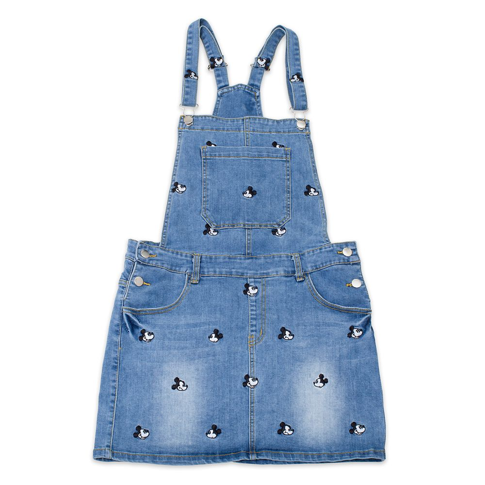 Mickey Mouse Denim Overalls Dress by Cakeworthy