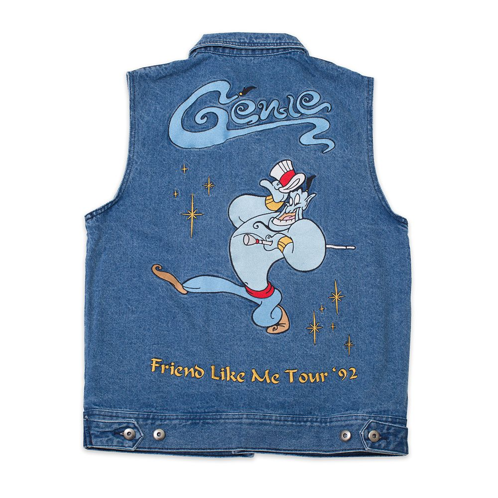 Genie Denim Vest for Adults by Cakeworthy  Aladdin Official shopDisney