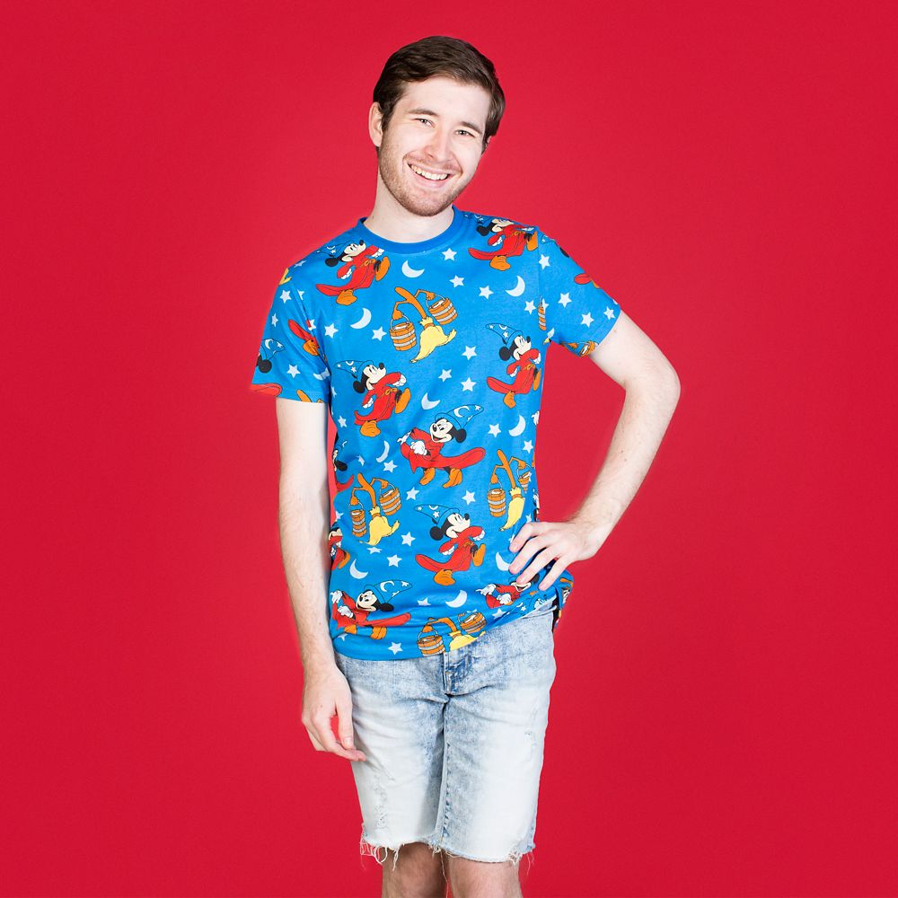 Sorcerer Mickey Mouse T-Shirt Adults by Cakeworthy – Fantasia