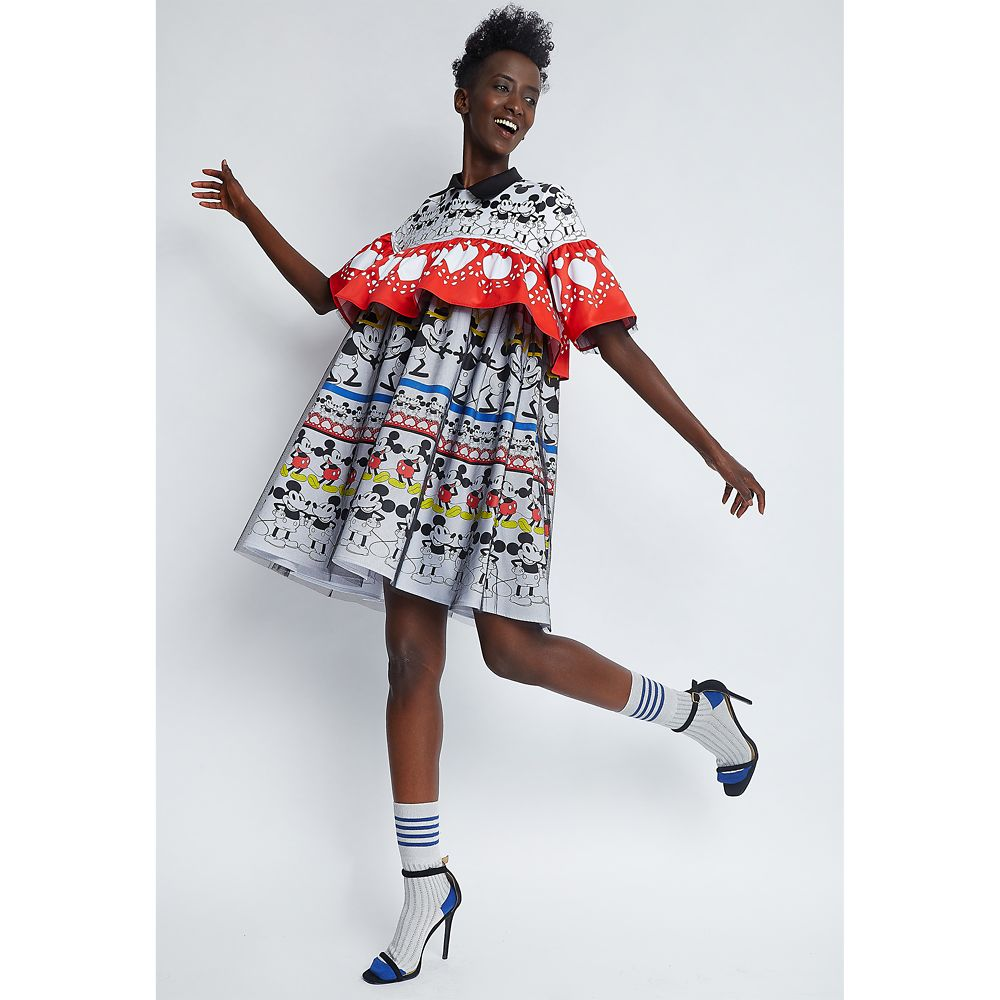 Mickey Mouse Ruffled Dress for Women by Sugarbird