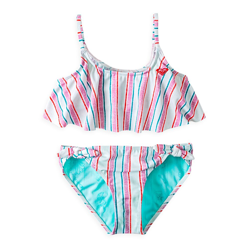 The Little Mermaid Striped Swimsuit for Girls by ROXY Girl Official shopDisney