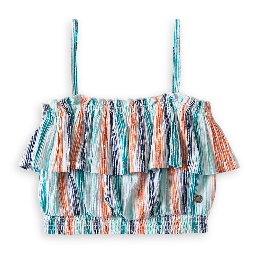 The Little Mermaid Striped Crop Top for Girls by ROXY Girl Official shopDisney