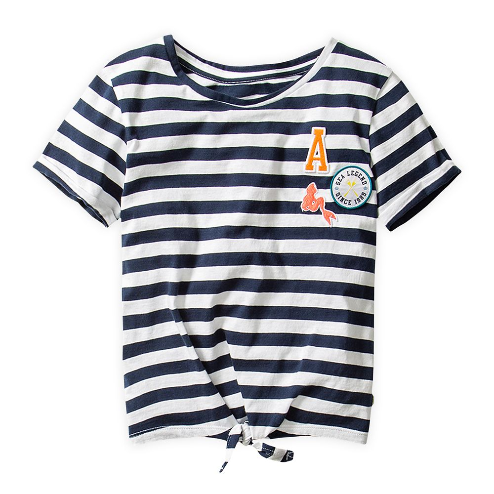 The Little Mermaid Striped T-Shirt for Girls by ROXY Girl