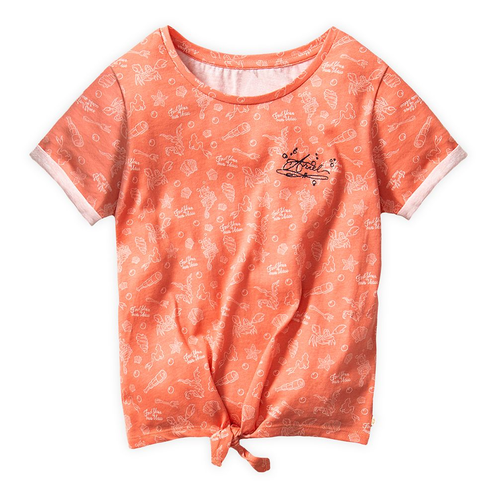 The Little Mermaid Knotted T-Shirt for Girls by ROXY Girl Official shopDisney