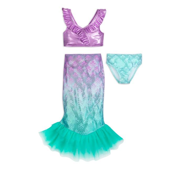 Ariel Deluxe Swimsuit Set for Girls – The Little Mermaid