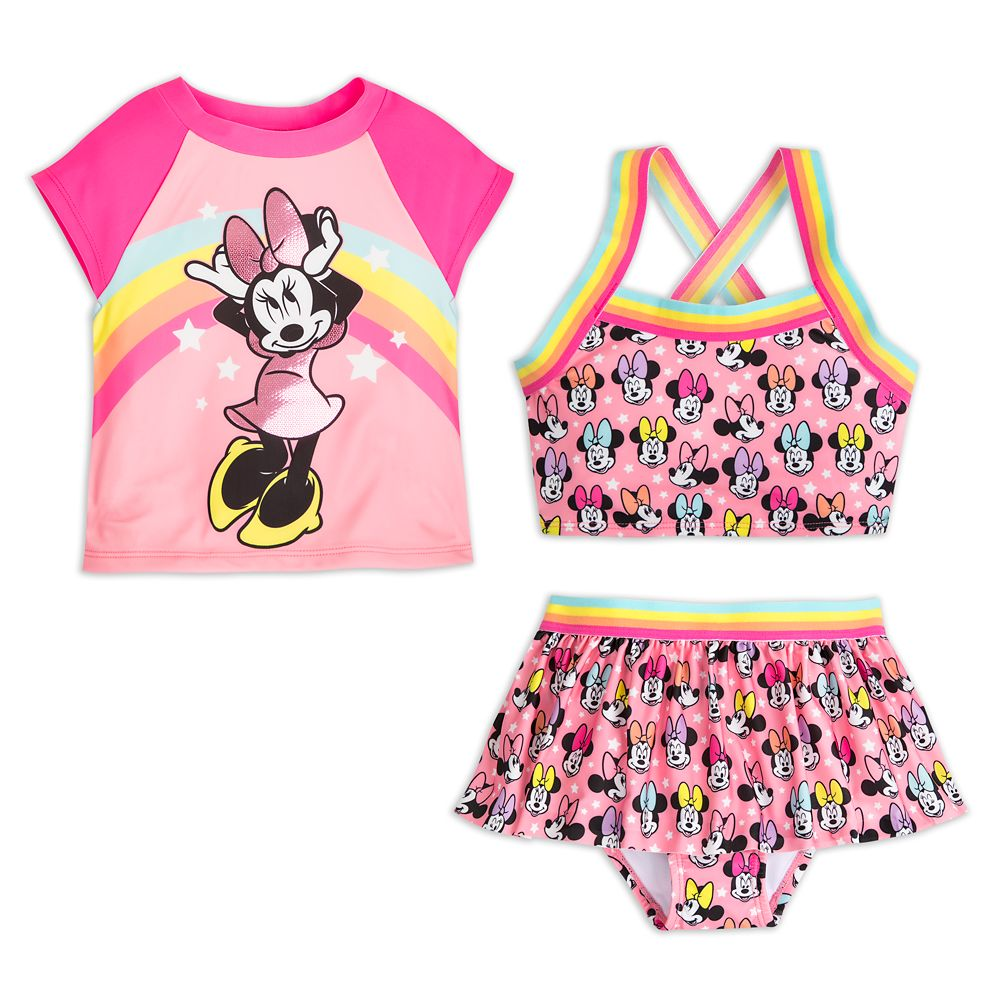 Minnie Mouse Pink Deluxe Swimsuit Set for Girls